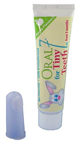 Oral7 Tiny Teeth Zahnpasta. Mit den Enzymen der Muttermilch. Für Kinder von 0-2 Jahren