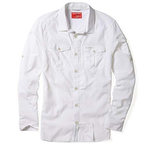 Craghoppers Herren Funktionshemd / Outdoor-Hemd  NosiLife Adventure LS Shirt  mit Insektenschutz  ,XXL, weiss (100) -