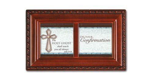 Cottage Garden Confirmation Boy Petite Music Box Retired - Religious Music Confirmation Communion PM5498S-CG by Cottage Garden