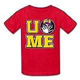 Youth Boys'/Girls' WWE John Cena U Cant See Me Logo T-Shirt - Black