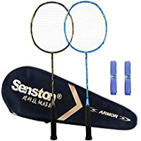 Senston Badminton Racket Set S-300 Graphite Full Carbon Badminton Racquet With Premium Quality Protective Carry Case