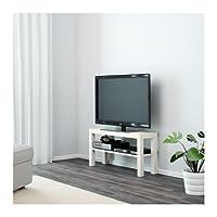 طاولة تلفاز خشبية، لون ابيض