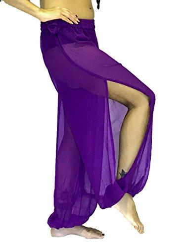Bauchtanz Harem Hose zum Tanzen Tribal Tänzer Kostüm Yoga Neu FANCY KLEID S M L XL XXL (Lila)