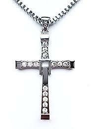"""HS86® - Colgante de cruz de Dominic Toretto (Vin Diesel) de """"A Todo Gas"""", tamaño 1:1, gran calidad"""