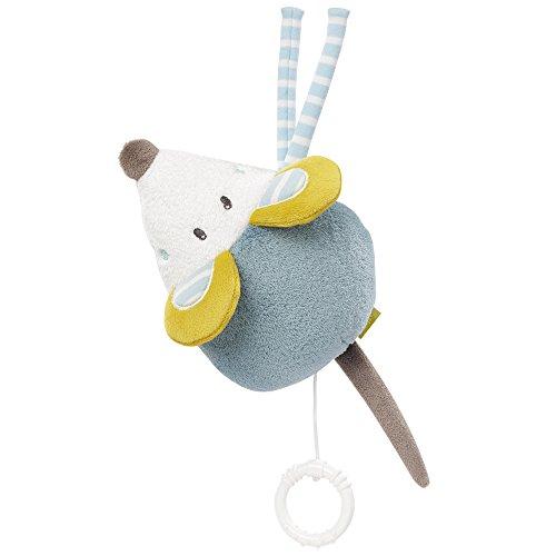 Fehn 065312 Spieluhr Maus / Aufzieh-Spieluhr mit herausnehmbarem Spielwerk zum Aufhängen, Kuscheln und Greifen, für Babys und Kleinkinder ab 0+ Monaten