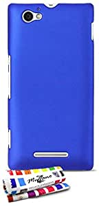 Ultraflache weiche Schutzhülle SONY XPERIA M [Le S Premium] [Blau] von MUZZANO + STIFT und MICROFASERTUCH MUZZANO® GRATIS - Das ULTIMATIVE, ELEGANTE UND LANGLEBIGE Schutz-Case für Ihr SONY XPERIA M