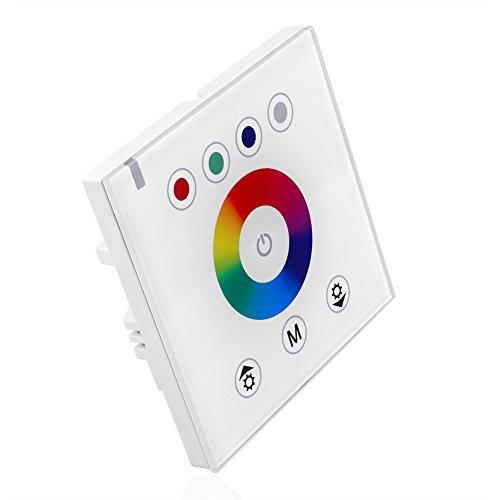 SIENOC Weiß LED RGBW Touch Panel Controller FÜR 5050 3528 LED Streifen Lampe Licht (Touch Controller Typ 1)