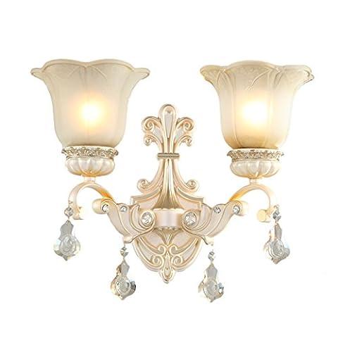 Retro Luxus Doppel Kopf Wand Lampe Schlafzimmer Nachttisch Lampe Wohnzimmer