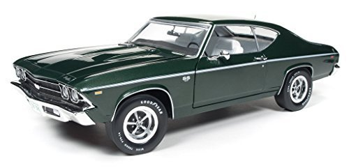 1969 Chevrolet Chevelle SS 396 Fathom Green 50th Engine Anniversary Limited Edition to 1002pc 1/18 by Autoworld AMM1064 by Autoworld