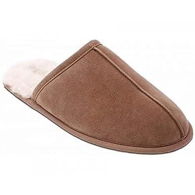 Padders Men's Husky Slippers  Beige Size: 8