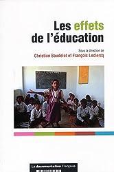 Les effets de l'éducation