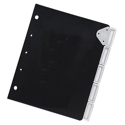 Master Catalog Rack Index Set, ideal zum Schutz und Organisieren von Materialien in Katalogregalen, Schwarz/Silber (MATB6125M) (Master-index)