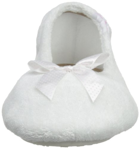 Isotoner  Stretch Terry, chaussons femme Blanc - blanc