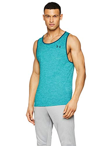 Under Armour UA Tech 2.0 Tank Tanque, Hombre, Azul (Dust/Batik 416), S
