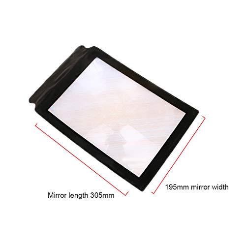 Regard L 3X Lesevergrößerungs PVC Glass HD Handheld Lupe klappbaren tragbaren A4 Papierformat Ausführliche Loupe, Shown,305x195x1mm -