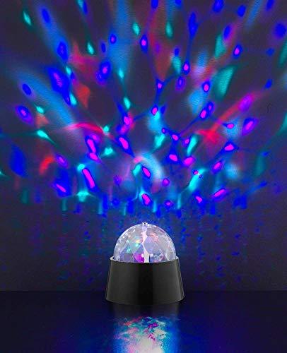 ACTION by WOFI 879101106000 A, Disco Tischleuchte, Plastik, 3 W, Integriert, schwarz, 9 x 9 x 9 cm