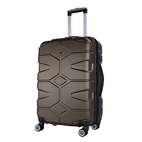Design Classic Tote (SHAIK® SERIE RAZZER SH002 3-tlg. DESIGN PMI Hartschalen Kofferset, Trolley, Koffer, Reisekoffer, 50/80/120 Liter, 4 Doppelrollen, 25% mehr Volumen durch Dehnfalte (Anthrazit, XL - Großer Koffer))