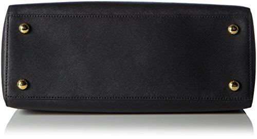 Michael Kors Cynthia Large Saffiano Leather Satchel, Sacs portés main Noir - Noir