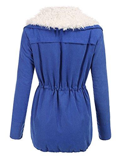 Trudge Damen Mantel Wintermantel Winterparka Kapuze Designer Damenjacke Outdoor Karmaa Jacke Parka (b)Blau
