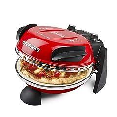 Idea Regalo - G3Ferrari G10006 Delizia Forno Pizza Elettrico EVO, 1200W, termostato regolabile fino a 400°C, Rosso