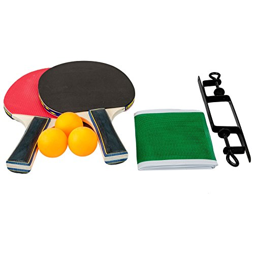 table-tennis-complete-set-2-paddle-bats-3-ping-pong-balls-net-with-clamps-practise-tournament-play-f