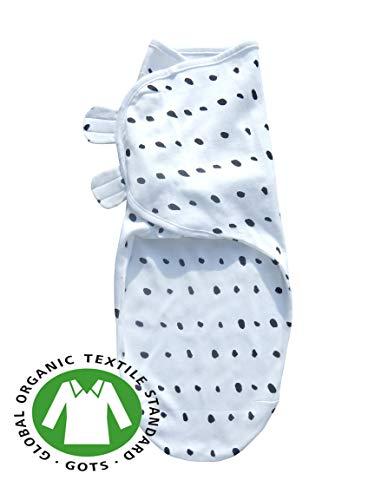 Sleeping Rebels® Pucksack Baby Premium Bio-Baumwolle GOTS-Zertifiziert Pucktuch Swaddle Schlafsack Wickel-decke zum Pucken und Wickeln von Babys Polka Dots 4-6 Monate