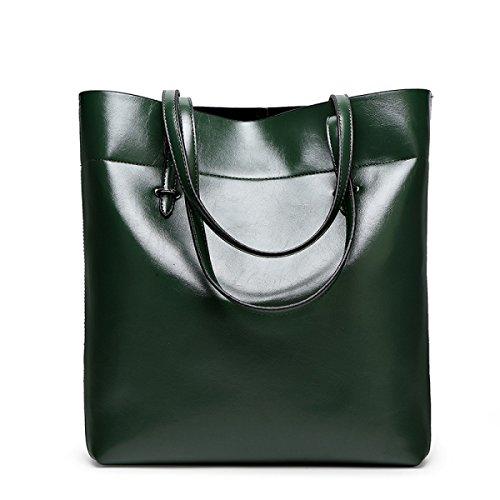 Frauen Handtaschen Mode Handtaschen Für Frauen Einfache PU Leder SchultertaschenTote Taschen Darkgreen