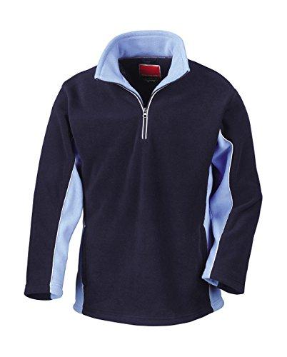 Result - Tech3 1/4 Zip Fleecepullover Sport XL,Navy/Sky (1/4 Navy Zip Fleece)