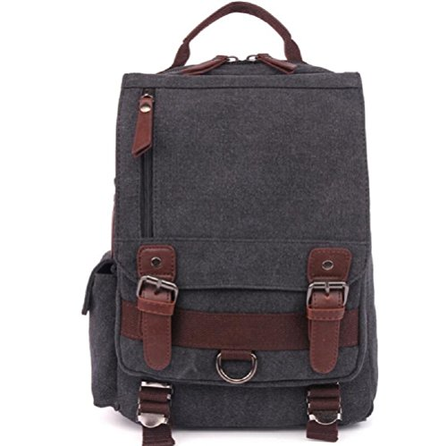 ZC&J Outdoor Freizeit Wandern Rucksack Handtasche, Männer und Frauen Multifunktions-Leinwand Tasche solide Verschleiß-resistent Anti-Riss Anti-Kratzer einfach und praktisch A