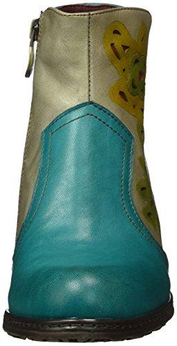Laura Vita Aliette 25, Bottes courtes avec doublure chaude femme Turquoise - Turquoise