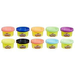 Play-Doh, multicolor, Pack 10 Mini Botes (Hasbro 22037EN2)