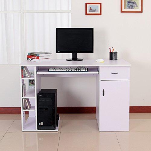 Homcom - Scrivania per Computer Scrivania Ufficio Porta PC con