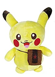 A-Mart soft toy pokemon pikachu yellow with bag 8 inch