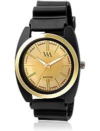 Watch Me Gold Dial Black PU Strap Watch For Boys WMAL-237 WMAL-237omtbg