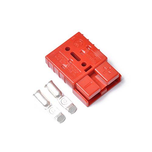 Vosarea 10 pcs 50 A 600 V Premium Plug extérieur connecteur d'alimentation DC Caravane Solaire avec 20 Contacts (Rouge)