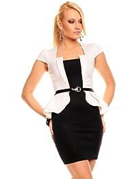 Elegantes Cocktailkleid mit Schößchen Business Kleid