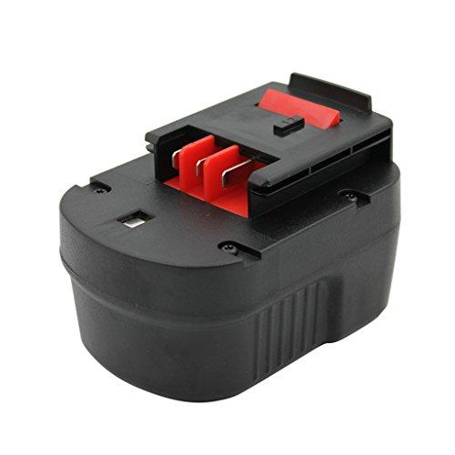 KINSUN Reemplazo Herramienta Eléctrica Batería 12V 2.0Ah Para Black & Decker Taladro Inalambrico Destornillador A12 A12-XJ A12EX A1712 BD12PSK FS120B FSB12 HPB12 Firestorm FS120B FS120BX FS1200D