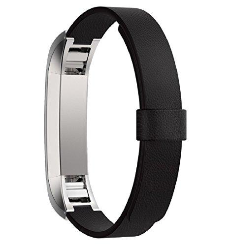 tonsee-band-fur-fitbit-alta-trackerluxus-echtes-leder-armband-schwarz