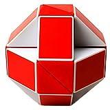 EASEHOME Zauberwürfel Schlange, Magische Schlange Magic Puzzle Speed Cube Zauber Würfel PVC Aufkleber für Kinder und Erwachsene, Weiß Rot