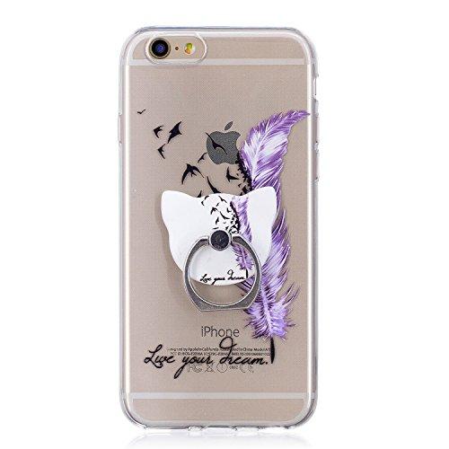 Cover per iPhone 6 / iPhone 6s Silicone Case , YIGA Moda Datura Cristallo Trasparente Cover Cassa Silicone Morbido TPU Case Caso Shell Protettiva Custodia per Apple iPhone 6 / iPhone 6s (4.7) FD64