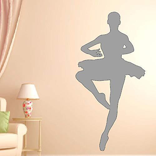 Ajcwhml Ballerina Wandtattoo Schlafzimmer Tanz Wandaufkleber für Dance Studio Art 30x56cm -