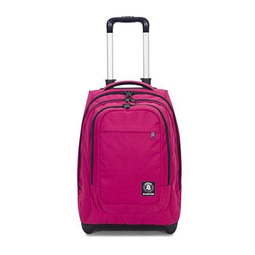Trolley invicta - extra - bump - rosa - 45 lt spallacci a scomparsa! uso zaino scuola e viaggio
