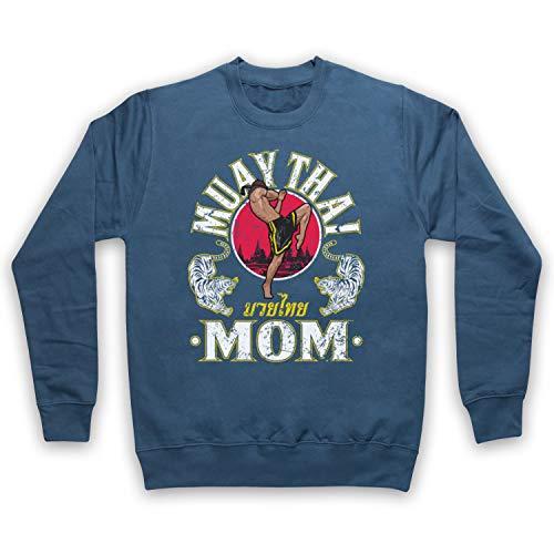 My Icon Art & Clothing Muay Thai Mom Martial Arts Expert Erwachsenen Sweatshirt, Airforce Blau, Small Air Force Mom Sweatshirt