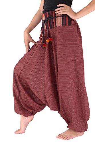 Sarouel traditionnel unisexe en coton Bjelly - Rouge - L