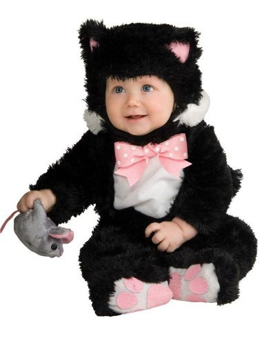 Inky Black Kitty Infant Costume (6-12 Mos) by Halloween FX