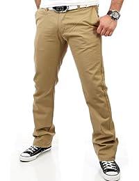 Reslad Chino Hose Herren, schwarz | Super bequem | Top Qualität | Moderne Stoffhose, Baumwollhose für Männer | Leichte Sommer-Hose, Freizeithose Regular fit für Herren und Jungen