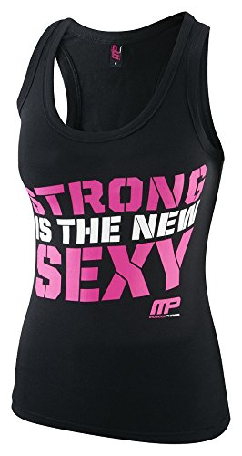 Musclepharm MPLVST432 LADIES MUSCLE PHARM PRINTED VEST BLACK/HOT PINK