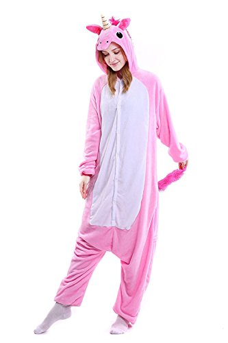 CozofLuv Pijama Animal Unicornio Entero para Adultos Pijama Mono Anima