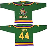 Yajun Fulton Reed #44 Mighty Ducks Película Camisetas Hockey Jersey sobre Hielo NHL Hombre Ropa Respirable T-Shirt de Manga Larga,L