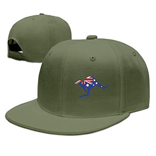 ghkfgkfgk Custom Unisex Adjustable Sports Australian Kangaroo Flag Snapback Flat Hip-hop Hat One Size Sox Mlb-snap